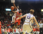 Mississippi's Chris Warren (12) is fouled by LSU's Storm Warren, rear, during an NCAA college basketball game in Oxford, Miss., on Thursday, March 4, 2010. Ole Miss won 72-59.