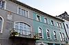 """Goethe-Haus """"Weißes Roß"""", Inschrift: """"In diesem Hause weilte Goethe anläßlich des Rochusfestes i. J. 1814 sowie bei seinen wiederholten Besuchen in Bingen."""""""