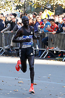 NEW YORK, NY - NOVEMBER 6 ,2016. Lucas Rotich of Kenya runs before he wins the second place at the TCS NYC Marathon men's race in New York November 06, 2016 (Photo by Kena Betancur/VIEWpress)