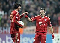 FUSSBALL   CHAMPIONS LEAGUE   SAISON 2011/2012     22.11.2011 FC Bayern Muenchen - FC Villarreal Mario Gomez, Franck Ribery (v. li., FC Bayern Muenchen)