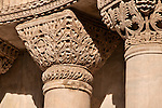 Detail of the column capitals on the facade of Saint Mark's Basilica in Venice, Italy