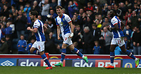Blackburn Rovers' Sam Gallagher celebrates scoring his sides equalising goal to make the score 1-1<br /> <br /> Photographer Stephen White/CameraSport<br /> <br /> The EFL Sky Bet Championship - Blackburn Rovers v Bristol City - Monday 17th April 2017 - Ewood Park - Blackburn<br /> <br /> World Copyright &copy; 2017 CameraSport. All rights reserved. 43 Linden Ave. Countesthorpe. Leicester. England. LE8 5PG - Tel: +44 (0) 116 277 4147 - admin@camerasport.com - www.camerasport.com