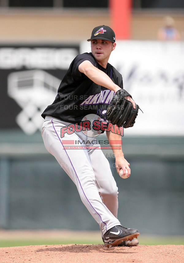 Akron Aeros Aaron Laffey during an Eastern League game at Jerry Uht Park on June 29, 2006 in Erie, Pennsylvania.  (Mike Janes/Four Seam Images)
