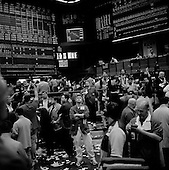 Chicago, Illinois<br /> March 28, 2008 <br /> <br /> Chicago Mercantile Exchange - traders on the open outcry S&amp;P 500 pit as markets continue to swing at 100+ points a day up or down. The mortgage crisis is being played out on Wall Street and world's financial markets.