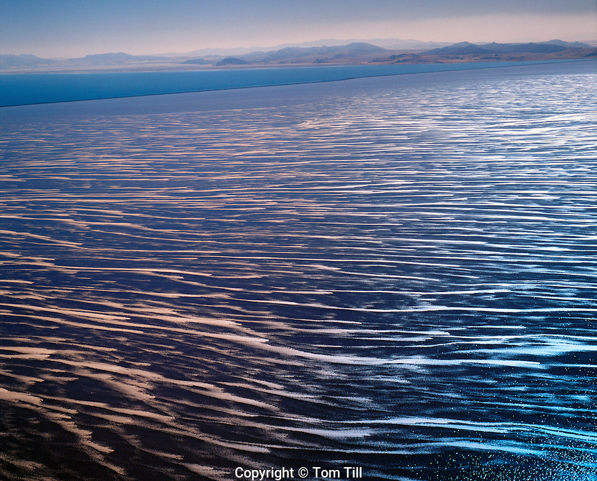 Salt and Mineral Patterns Braided by the Wind, Great Salt Lake, Utah