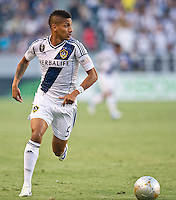 CARSON, CA - June 23, 2012: LA Galaxy defender Sean Franklin (5) during the LA Galaxy vs Vancouver Whitecaps FC match at the Home Depot Center in Carson, California. Final score LA Galaxy 3, Vancouver Whitecaps FC 0.