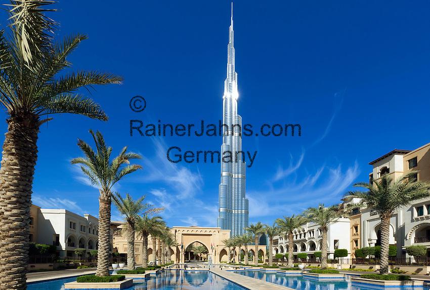 Burj khalifa dubai das hoechste gebaeude der welt und die dubai mall