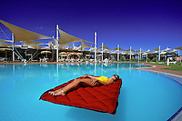The Yalara Resort,in the Uluru National Park at Ayers Rock,Hotel and resort complex, for tourist visiting Ayers Rock,Australia