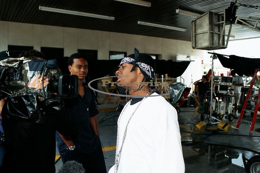 Lil Wayne on the #1 Stunna video shoot in New Orleans, City Park on June 17, 2000.  Photo credit:  Presswire News/Elgin Edmonds