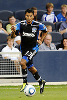 Steven Beltashour San Jose Erthquakes defender in action... Sporting KC defeated San Jose Earthquakes 1-0 at LIVESTRONG Sporting Park, Kansas City, Kansas.