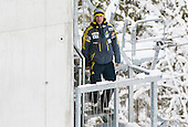 Primoz Peterka, assistant coach of SLovenia during 11th Women FIS Ski Jumping World Cup competition in Planica replacing Ljubno  on January 25, 2014 at HS95, Planica, Slovenia. Photo by Vid Ponikvar / Sportida