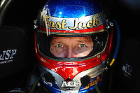 Jan. 19, 2012; Jupiter, FL, USA: NHRA funny car driver Jack Beckman during testing at the PRO Winter Warmup at Palm Beach International Raceway. Mandatory Credit: Mark J. Rebilas-