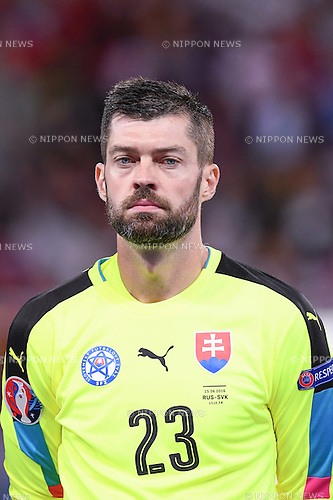 Matus Kozacik (Slovakia) ; <br /> June 15, 2016 - Football : Uefa Euro France 2016, Group B, Russia 1-2 Slovakia at Stade Pierre Mauroy, Lille Metropole, France. (Photo by aicfoto/AFLO)