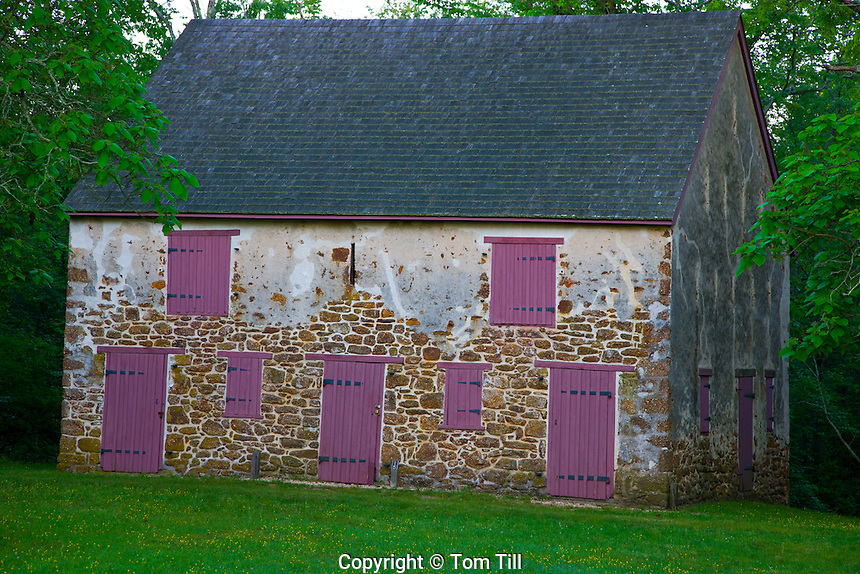 Old barn and purple shutters  Batsto Village     Wharton State Forest, New Jersey   Pinelands National Reserve   Historic village from 1766