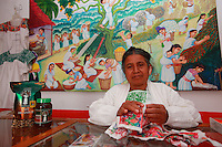 In Cuetzalam, Tosepan's shop sells traditional crafts to the tourists, but also coffee and honey.
