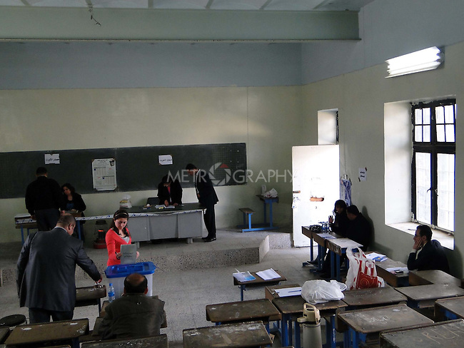 SULAIMANIYAH, IRAQ: A school is turned into a polling station in Sulaimaniyah...On March 7th, 2010, Iraq held nationwide parliamentary elections.
