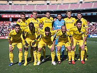 The Columbus Crew line up before the game at RFK Stadium in Washington, DC.  Columbus Crew defeated D.C. United, 2-1.