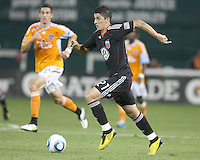 Pablo Hernandez #21 of D.C. United during an MLS match against the Houston Dynamo at RFK Stadium in Washington D.C. on September  25 2010. Houston won 3-1.