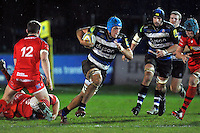 Zach Mercer of Bath United goes on the attack. Aviva A-League match, between Bath United and Bristol United on December 28, 2015 at the Recreation Ground in Bath, England. Photo by: Patrick Khachfe / Onside Images