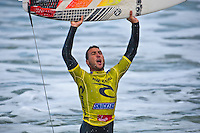 Bells Beach, Torquay Victoria, Australia (Friday, April 17 2009) -JOEL PARKINSON (AUS) cemented his current number 1 rating on the world tour today when he won the 2009 Rip Curl Pro Bells Beach in 1-5 - 2 meter waves at Bells Beach. Parkinson defeated wild card entry ADAM ROBERTSON (AUS) in the 35 minute final.This years event at the iconic Bells Beach was showcasing the dynamic new contest format where all heats are elimination man on man heats with the losers round no longer existing.   JORDY SMITH (ZAF) and FRED PATACCHIA (HAW) finished =3rd. Photo: joliphotos.com