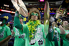 Apr 7, 2013; Band members cheer the team on during the semifinals against Connecticut in the 2013 NCAA women's basketball Final Four at the New Orleans Arena. Connecticut defeated Notre Dame 83 to 65. Photo by Barbara Johnston/ University of Notre Dame