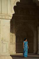 Visitors inside the Agra Fort India