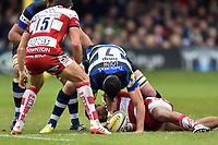 Francois Louw of Bath Rugby gets over the ball. Aviva Premiership match, between Bath Rugby and Gloucester Rugby on April 30, 2017 at the Recreation Ground in Bath, England. Photo by: Patrick Khachfe / Onside Images