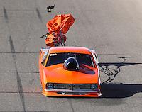 Feb 25, 2017; Chandler, AZ, USA; NHRA top sportsman driver Lynsi Snyder-Ellington during qualifying for the Arizona Nationals at Wild Horse Pass Motorsports Park. Mandatory Credit: Mark J. Rebilas-USA TODAY Sports