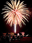 TORRINGTON CT. 11 July 2015-071115SV04-Fireworks go off at the middle school inTorrington Saturday.<br /> Steven Valenti Republican-American