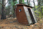 Old abandoned outhouse in central Wisconsin.