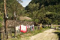 Street in the Lenca Indian village of La Campa, Lempira, Honduras...