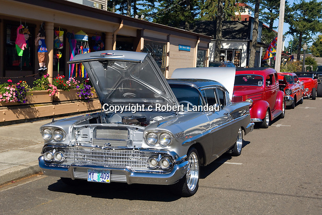 Classic car show held in the streets of Florence, OR