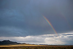Rainbow at the end of a storm in Antelope Valley, Elko Co, Nev.