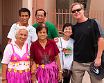The Buri Bag Project's own Mark Bauer poses with a group of friends at the opening of the Bulihan Festival.