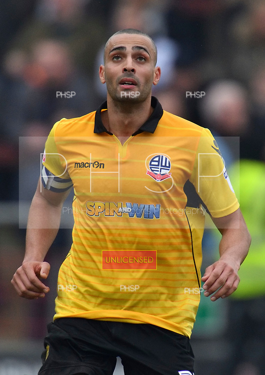 11/03/2017 Sky Bet League 1 Fleetwood Town v Bolton Wanderers<br /> <br /> Darren Pratley, Bolton Wanderers FC