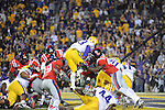 LSU running back Jeremy Hill (33) scores at Tiger Stadium in Baton Rouge, La. on Saturday, November 17, 2012. LSU won 41-35.....