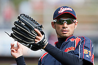 15 March 2009: #51 Ichiro Suzuki of Japan warms up prior to the 2009 World Baseball Classic Pool 1 game 1 at Petco Park in San Diego, California, USA. Japan wins 6-0 over Cuba.