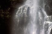 A waterfall in Hana, Maui, exuding ethereal mist
