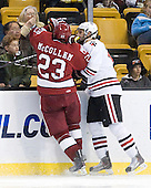 Matt McCollem (Harvard - 23), Steve Silva (Northeastern - 17) - The Northeastern University Huskies defeated the Harvard University Crimson 4-0 in their Beanpot opener on Monday, February 7, 2011, at TD Garden in Boston, Massachusetts.