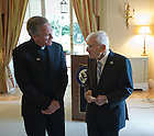 Aug. 31, 2012; University president Rev. John I. Jenkins, C.S.C. chats with United States Ambassador to Ireland Dan Rooney at a luncheon at the Ambassador's residence in Phoenix Park in Dublin, Ireland...Photo by Matt Cashore/University of Notre Dame