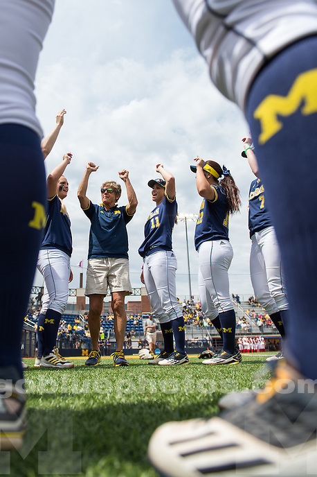 The University of Michigan softball team defeats Rutgers, 11-1, to win the Big Ten tittle at the Wilpon Complex in Ann Arbor, MI.