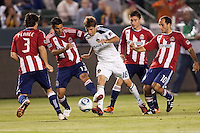 The LA Galaxy defeated CD Chivas USA 1-0 in the SuperClasico at Home Depot Center stadium in Carson, California on  May 21, 2011....