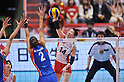 Yukiko Ebata (JPN),.MAY 27, 2012 - Volleyball : FIVB the Women's World Olympic Qualification Tournament for the London Olympics 2012, between Japan 2-3 Serbia at Tokyo Metropolitan Gymnasium, Tokyo, Japan. (Photo by Jun Tsukida/AFLO SPORT) [0003].