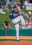 11 March 2016: Atlanta Braves pitcher Ian Krol on the mound during a Spring Training pre-season game against the Philadelphia Phillies at Champion Stadium in the ESPN Wide World of Sports Complex in Kissimmee, Florida. The Phillies defeated the Braves 9-2 in Grapefruit League play. Mandatory Credit: Ed Wolfstein Photo *** RAW (NEF) Image File Available ***