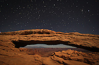 Moonlight Magic Arch - Canyonlands Np, Utah - Mesa Arch