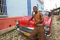 Man with red Chevy, Rafael Hernandez