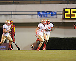 Lafayette High's Colby Terrell (10) intercepts a pass vs. Laurel in the MHSAA Class 4A championship game at Mississippi Veterans Memorial Stadium in Jackson, Miss. on Saturday, December 3, 2011. Lafayette won 39-29, the team's 32 straight win, to capture their second consecutive state championship.