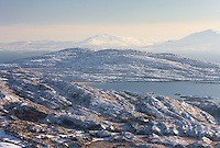 Derrynane National Park covered in snow, Caherdaniel, County Kerry, Ireland / dr065