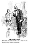 """The Dancing Lesson. Exasperated wife. """"My dear man, you learnt to drill in the army; why can't you pick this up? It's a perfectly simple step. Anyone would think you were mentally deficient."""" Husband. """"Almost the sergeant's own words, dear."""""""