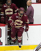 Luke McInnis (BC - 3), John Hegarty (BC - Director-HockeyOps), Scott Savage (BC - 2) - The Harvard University Crimson defeated the visiting Boston College Eagles 5-2 on Friday, November 18, 2016, at the Bright-Landry Hockey Center in Boston, Massachusetts.